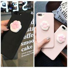 Soft Lovely 3D lazy Cat Soft Silicone Phone Case Cover For iPhone 6/6S/7 Plus