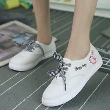 New Women's Shoes Fashion Lace Up Breathable Casual Canvas Sneaker Running Shoes