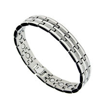 Accents Kingdom Men's Magnetic Titanium Therapy Golf Bracelet T4