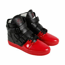 Radii Straight Jacket Vlc Mens Red Black Leather High Top Sneakers Shoes