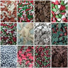 Christmas Snowman Holly Candy Cane Xmas Tree Sprinkles Cake Decorations 25g