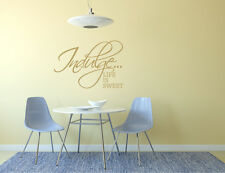 Life is sweet wall decal | Life is sweet wall sticker