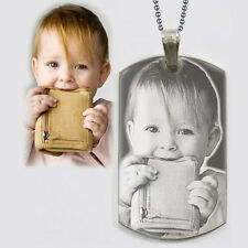 Personalized Photo Text Dogtags Custom Picture Text Necklace Pendant + Free E...