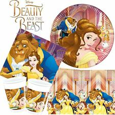 Beauty And The Beast Party Tableware Sets Disney Princess Pack Kit