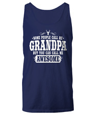 Funny Call Me Awesome Grandpa - Deer Hunting Theme - Unisex Tank Top