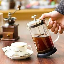 French Press Pot 3-Cup Cafetiere Coffee Cup Tea Filter Glass Beaker Carafe P7W1