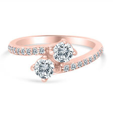 1.00ctw Diamond Two Stone Engagement Ring in 14k  Rose Gold
