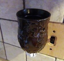 COCOA BROWN Ceramic Oil and Wax Tart Electric Wall Outlet Plug In Warmer
