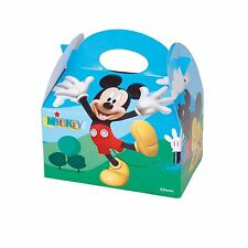 Mickey Mouse Party Lunch Boxes Cardboard Treat Gift Bag Food Meal Box