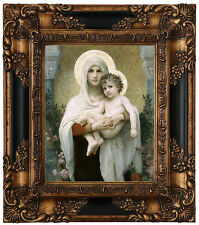 Bouguereau The Madonna of the Roses Wood Framed Canvas Print Repro 8x10