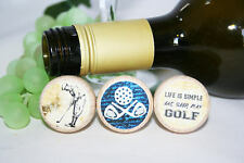 Golf Wine Stopper, Golf Gift, Golf Lover, Fathers Day Gift, Wine Lover, PGA Tour