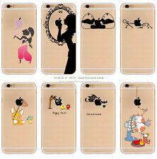 Crystal Pattern Silicone Rubber Soft Cases Cover Ultra Thin Slim iPhone ⒌⒍⒎ NEW.