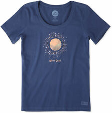 Life Is Good Womens Sunray Circles Crusher T-Shirt