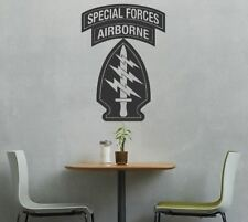 Large Special Forces Patch Airborne Rocker Vinyl Graphic Decal Sticker