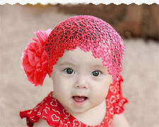 Baby Girls Flower Hairband Lace Elastic Headband Gifts Hair Accessories Band WB