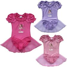 Girls Gymnastic Ballet Leotard Tutu Dress Kid Ballerina Dance Outfit Costume