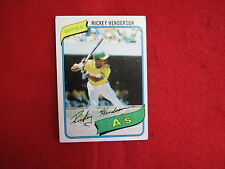 1980 Topps Rickey Henderson  rookie baseball card  # 482 RC