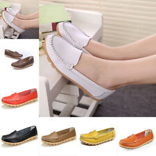 Women Flat Loafers Casual Slip On Moccasin-gommino Driving Vintage Shoes 35-40