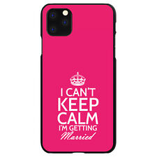 Hard Case Cover for iPhone 5 SE 6 S 7 8 PLUS Can't Keep Calm Getting Married