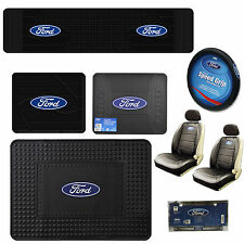 New FORD Cargo Utility Floor Mats / Seat Covers / Steering Wheel Cover Keychain