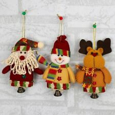 Lovely Christmas Doll Decoration Santa Claus Snowman Hanging Tree Ornament Gift