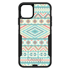 OtterBox Commuter for iPhone 5 SE 6 S 7 8 PLUS X Blue Orange White Tribal Print