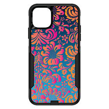 OtterBox Commuter for iPhone 5C 5 SE 6 S 7 8 PLUS Pink Orange Blue Flower Floral
