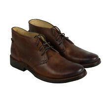 Frye Oliver Chukka Mens Brown Leather Casual Dress Lace Up Chukkas Shoes