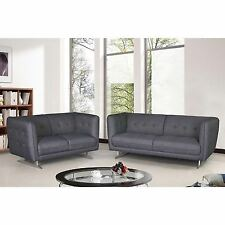 Morden Fabric 2-piece Fabric Sofa and Loveseat Set