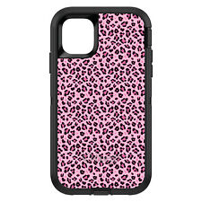 OtterBox Defender for iPhone 6 6S 7 8 PLUS X Black Pink Leopard Skin Spots