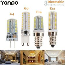 Dimmable 5W 7W 10W G9 G4 E12 E14 LED Bulb Silicone Corn Light Lamp 3014 SMD 110V