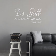 Wallums Wall Decor Psalm 46:10 Be Still and Know I am God Wall Decal