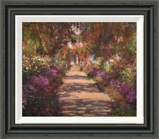'A Lane in Monets Garden Giverny II' by Claude Monet Framed Painting Print