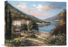 Global Gallery 'Coastal Gardens I' by Hilger Painting Print on Wrapped Canvas