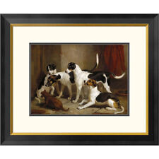 Global Gallery The Puckeridge Foxhounds by Thomas Woodward Framed Drawing Print