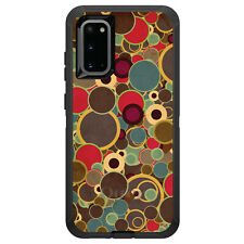 OtterBox Defender for Galaxy S5 S6 S7 S8 S9 PLUS Brown Red Yellow Circles