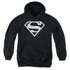 Superman Logo Big Boys Youth Pullover Hoodie