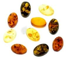 AAA Cabochon Natural Rich Golden & Green Baltic Amber stones (6x4mm - 6 x 4 mm)