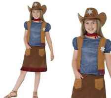 Western Belle Costume Girls Cowboy Cowgirl Fancy Dress Outfit S-L