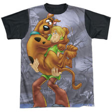 Scooby Doo Scooby And Shaggy Mens Sublimation Shirt with Black Back