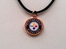 Lucky Penny Pendant 2-Sided Pittsburgh Steelers Charm Necklace Football 1