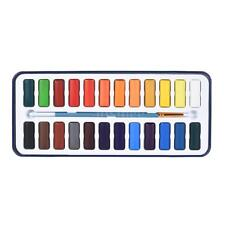 Art Solid Water Color Drawing Painting Pigment+Paintbrush Artist Supplies B0A7