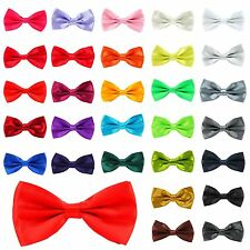 2017 NEW Mens Pre Tied Fancy Plain Necktie tie Bow ties Wedding Party Christmas