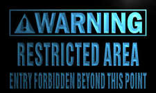 """16""""x12"""" n063-b Warning Restricted Area Neon Sign"""