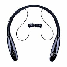 Black KM05 Bluetooth Headphones Neckband Headset Stereo Noise Cancelling Earbuds