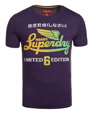 New Mens Superdry Factory Second Limited Icarus T-Shirt Lex Purple Marl
