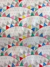 100% Cotton Fabric - Bunting Fabulous cotton fabric for dressmaking, crafts,