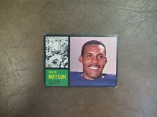 1962 Topps Ollie Matson football card   Rams     # 79
