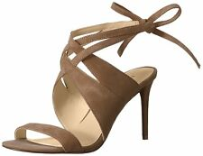 Nine West Womens Ronnie Leather Open Toe Casual Slingback Sandals