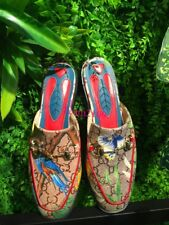 Womens Slippers Mules Slides Flower Printed Loafers Pumps Shoes Stylish Plus SZ&